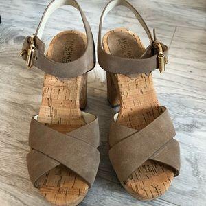 MICHAEL Michael Kors Shoes - Michael Kors Natalia Platform Suede Sandals